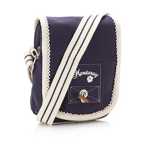 Mantaray - Navy toggle fastened cross body bag