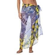 Blue mixed print sarong