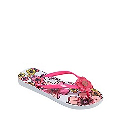 Floozie by Frost French - Pink floral print flip flops