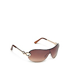 Beach Collection - Gold rimless visor sunglasses