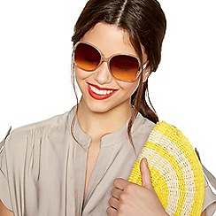 Beach Collection - Light brown oversized sunglasses