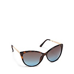 Beach Collection - Brown tortoise shell cat eye sunglasses