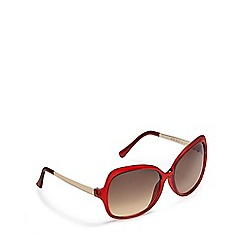 Beach Collection - Red oversized sunglasses