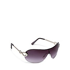 Beach Collection - Silver tinted rimless aviator sunglasses