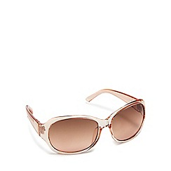 Beach Collection - Pale pink transparent square sunglasses