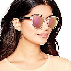 Red Herring - Gold and transparent two tone sunglasses