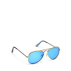 Red Herring - Gold and blue aviator sunglasses