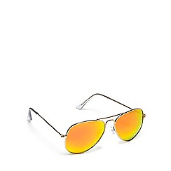 Red Herring - Gold and orange aviator sunglasses