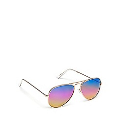 Red Herring - Multicoloured aviator sunglasses
