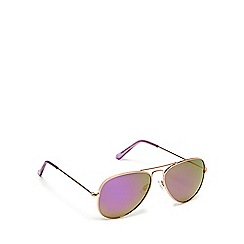 Red Herring - Rose gold and purple aviator sunglasses