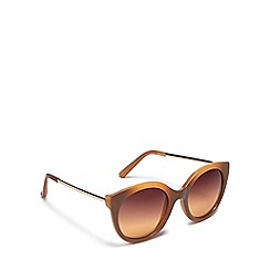 Floozie by Frost French - Light brown cat eye sunglasses