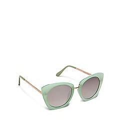 Floozie by Frost French - Aqua cat eye sunglasses