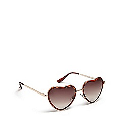 Floozie by Frost French - Gold heart shaped sunglasses