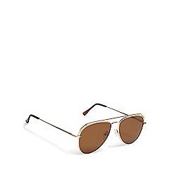 Red Herring - Gold tinted aviator sunglasses