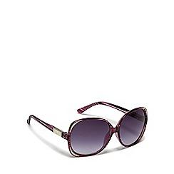 Mantaray - Red oversized striped sunglasses