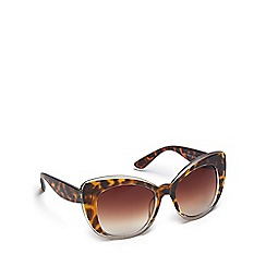 Floozie by Frost French - Brown tortoise shell cat eye sunglasses
