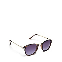 Floozie by Frost French - Brown tortoise shell round sunglasses