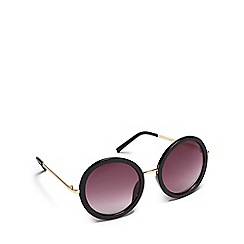 Red Herring - Black oversized round sunglasses