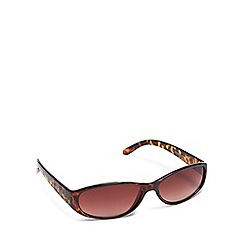 Mantaray - Brown tortoise shell oval sunglasses