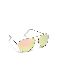 Floozie by Frost French - Pink flash aviator sunglasses