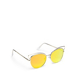 Floozie by Frost French - Gold cat eye sunglasses