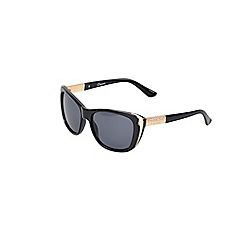Gionni - shiny black cat eye sunglasses