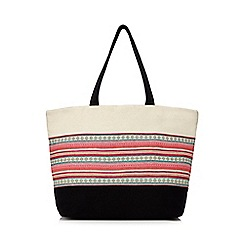Beach Collection - Multi-coloured oriental canvas beach bag