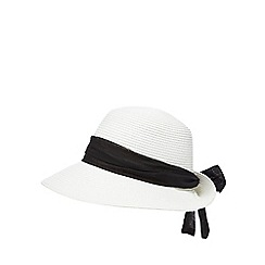 Beach Collection - White bow sun hat
