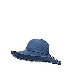 Mantaray - Blue raw edge floppy hat