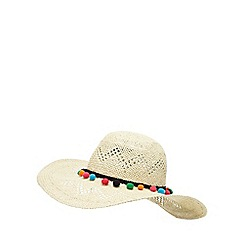 Floozie by Frost French - Natural pom pom round sun hat