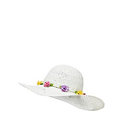 Floozie by Frost French - White flower floppy hat