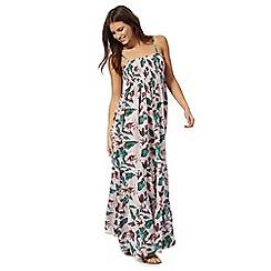 Mantaray - Pale pink tropical maxi dress