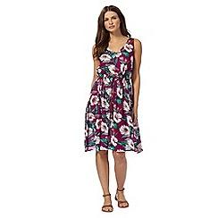 Mantaray - Purple tropical swing dress