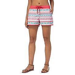 Mantaray - Pink Aztec board shorts
