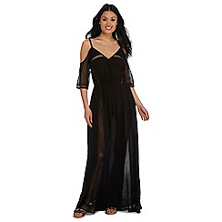 Butterfly by Matthew Williamson - Black mesh cold shoulder maxi dress
