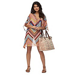 Butterfly by Matthew Williamson - Multi-coloured Aztec zig zag print kaftan