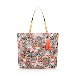 Butterfly by Matthew Williamson - Multi-coloured festival print shopper bag