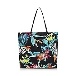 Butterfly by Matthew Williamson - Black tropical shopper bag