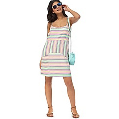 Floozie by Frost French - Multi-coloured striped strappy dress