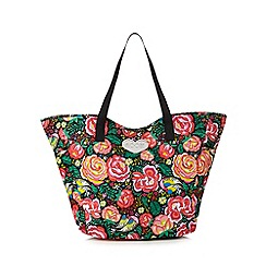 Floozie by Frost French - Black floral print tote bag