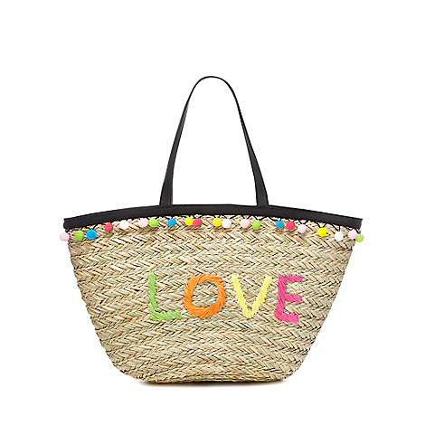 Floozie by Frost French - Multi-coloured straw tote bag