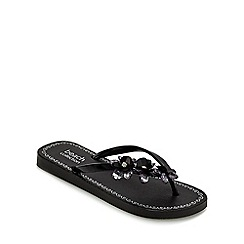Beach Collection - Black 'Eva' flip flops