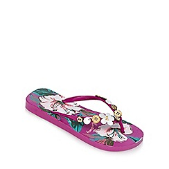 Mantaray - Multi-coloured floral print flip flops