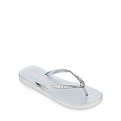 Floozie by Frost French - Silver glitter flip flops
