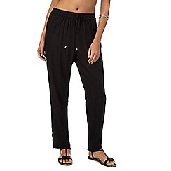 J by Jasper Conran - Black mesh paneled trousers