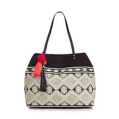 Butterfly by Matthew Williamson - Black textured tote bag