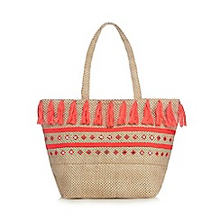 Butterfly by Matthew Williamson - Natural woven tote bag