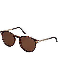 Pilgrim - Ellie gold plated brown sunglasses