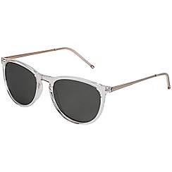 Pilgrim - Piper gold plated white sunglasses