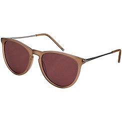 Pilgrim - Piper gold plated brown sunglasses